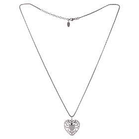 Collana ciondolo a cuore con cuore di zirconi argento 925 AMEN  s2