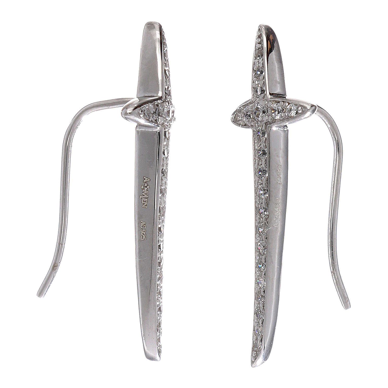 Orecchini croce AMEN argento 925 e zirconi 4