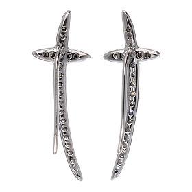 Orecchini croce AMEN argento 925 e zirconi s3