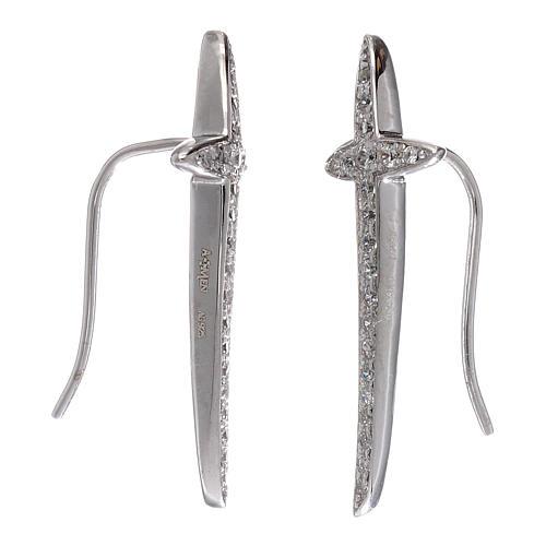Orecchini croce AMEN argento 925 e zirconi 2