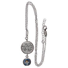 Collier argent 925 médaille ange et prière ITA s3