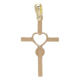 Cruz motivo infinito en forma de corazón amarillo oro 18 k - gr 1,13 s1