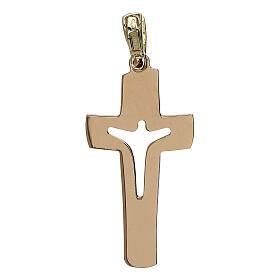 Cruz con Cristo perforado oro 18 k - gr 1,53 s2