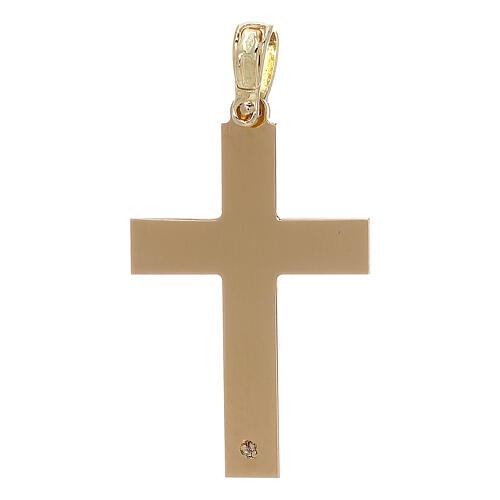 Cruz con incisión trenza oro 18 k - gr 2,03 2