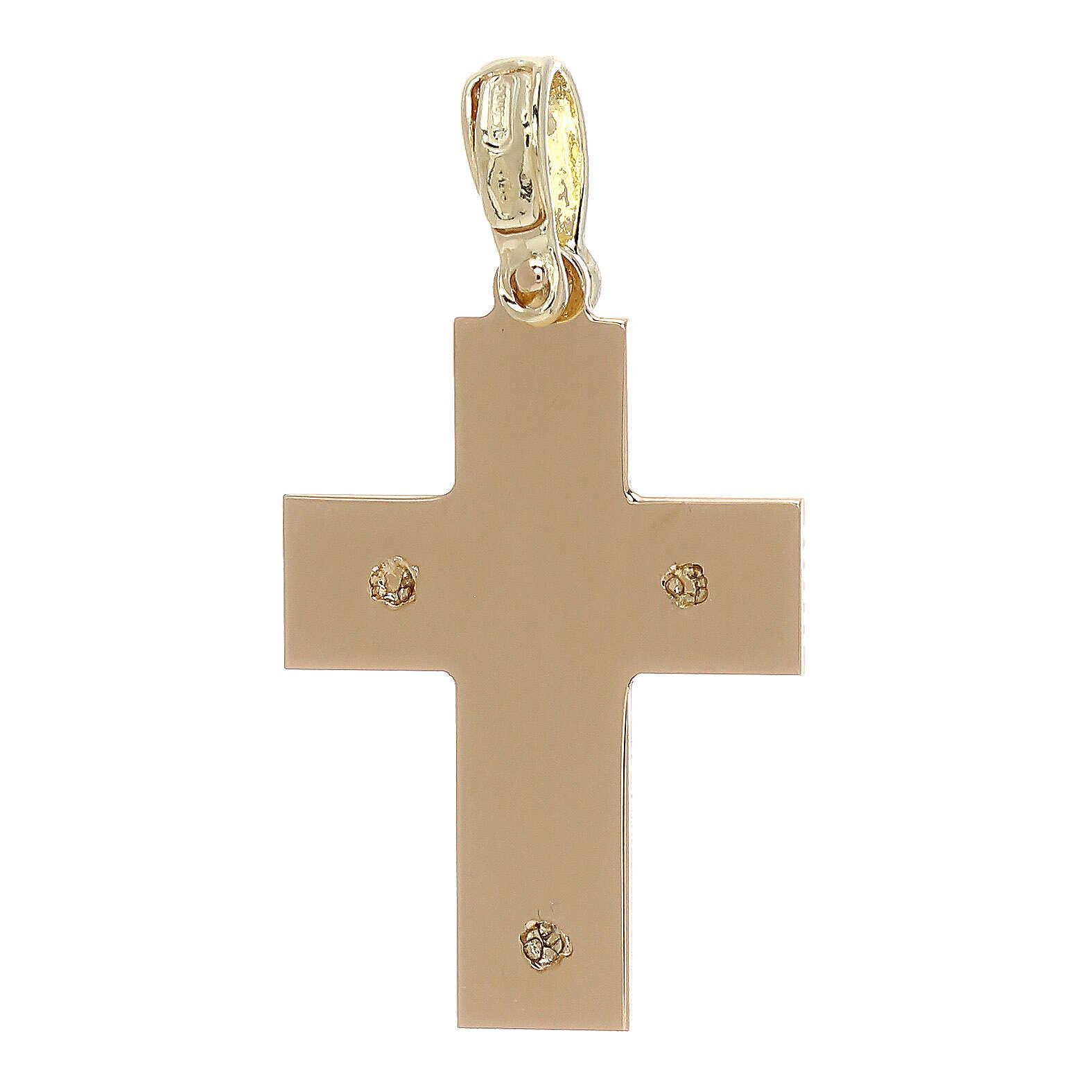 Cruz con incisiones laterales oro 18 k - gr 1,97 4