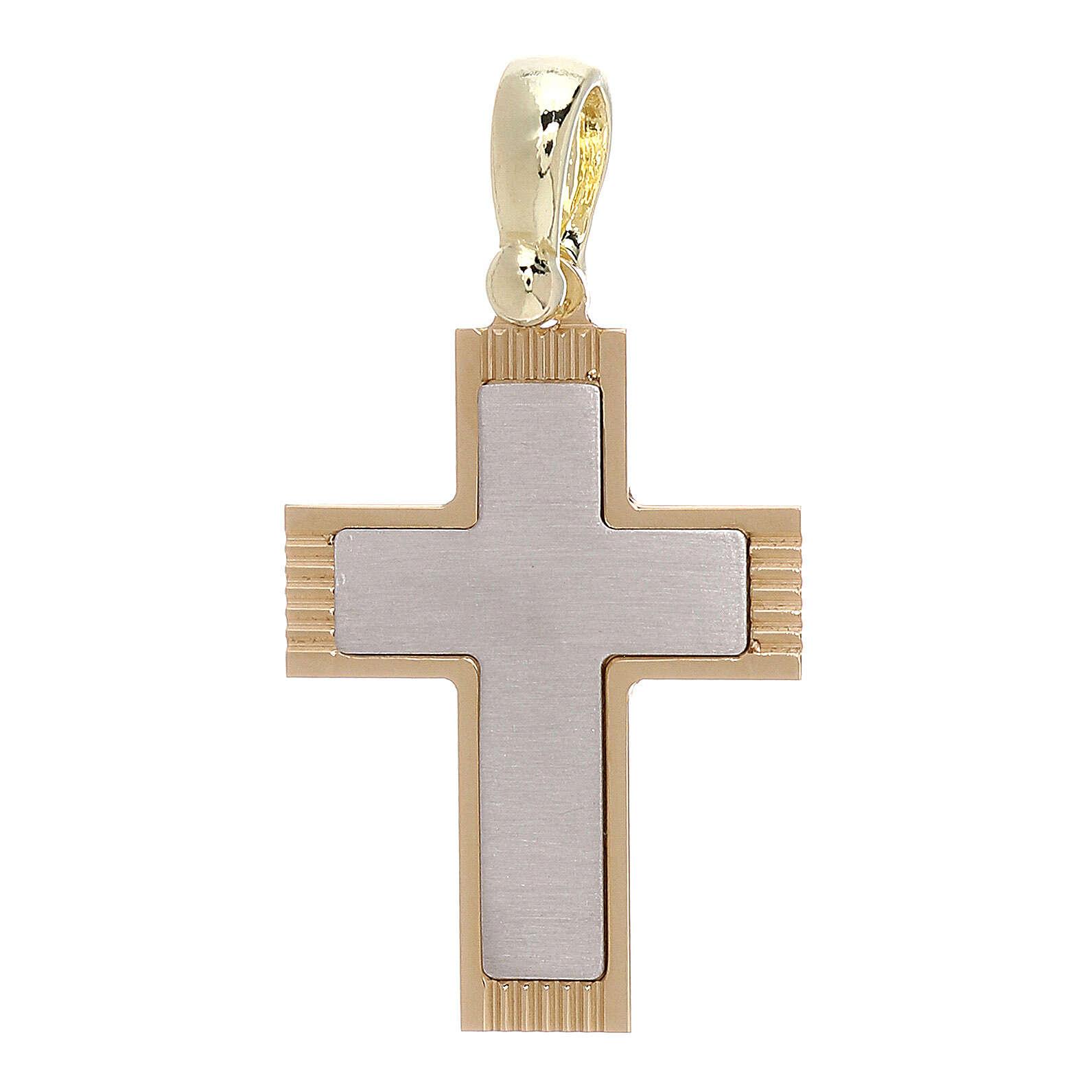Croix avec gravures latérales or 18K 1,97 gr 4