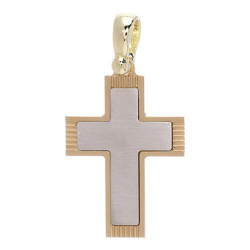 Croix avec gravures latérales or 18K 1,97 gr 1