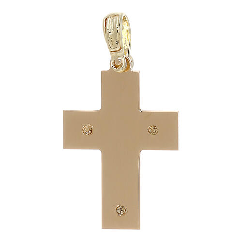 Croix avec gravures latérales or 18K 1,97 gr 2
