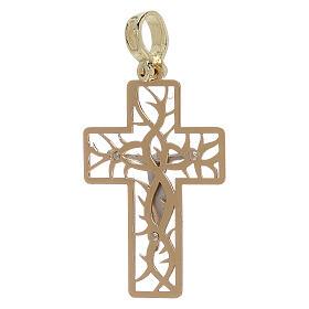 Croix bicolore avec épines or 18K 3,03 gr s2