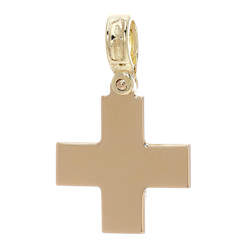 Square yellow cross polished 18-carat gold 4 gr 2