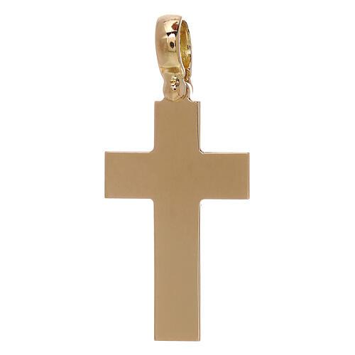 Croce latina pendente liscia oro 18 kt - gr 5,13 1