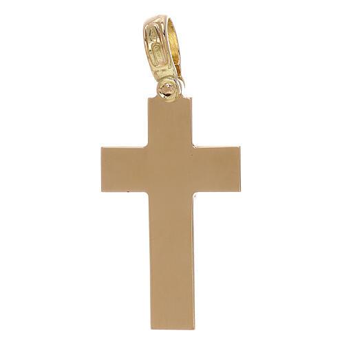 Croce latina pendente liscia oro 18 kt - gr 5,13 2