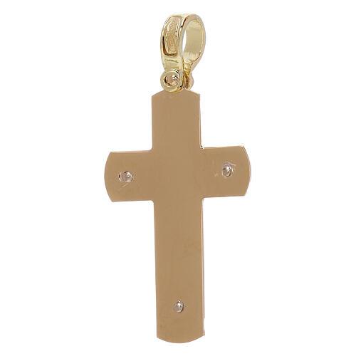 Croix pendentif gravée avec Christ or 18K 3,68 gr 2