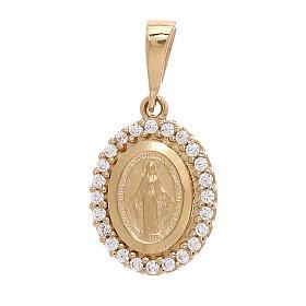 Colgante Virgen Milagrosa oro 18 k Swarovski blancos 1,7 gramos s1