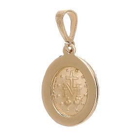 Colgante Virgen Milagrosa oro 18 k Swarovski blancos 1,7 gramos s2