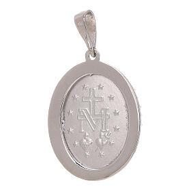 Pendente Medaglia Miracolosa Swarovski oro bianco 750/00 3,4 grammi s2