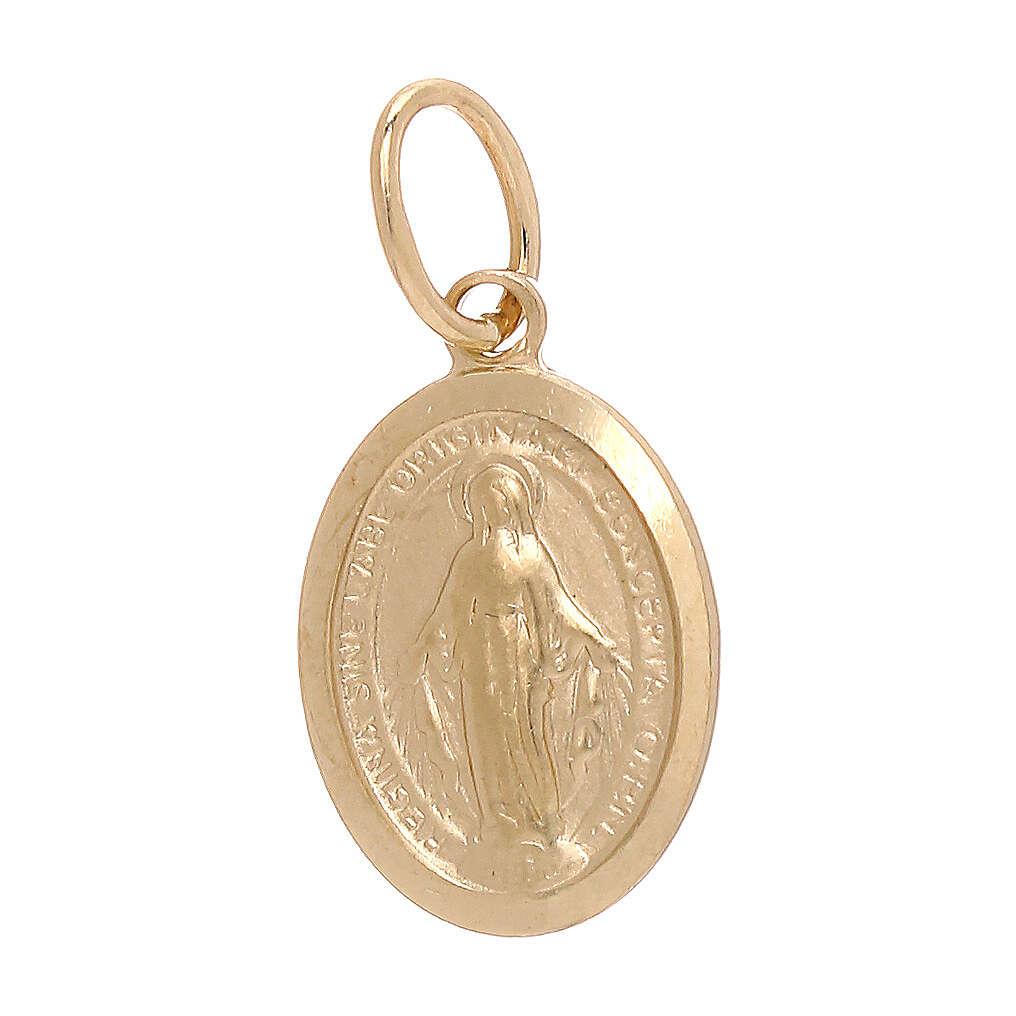 Medaglia Miracolosa pendente oro giallo 750/00 1,2 grammi 4