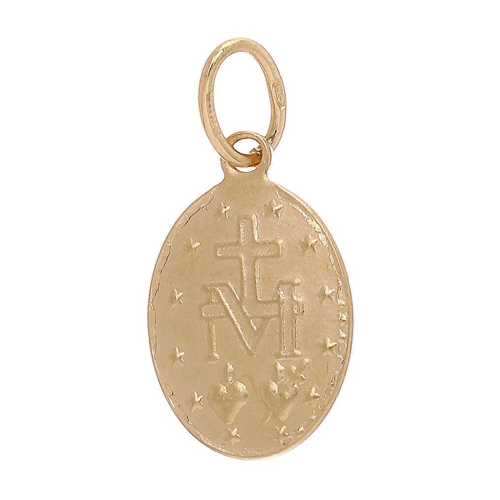 Miraculous Medal pendant 18-carat gold 1.2 gr 4