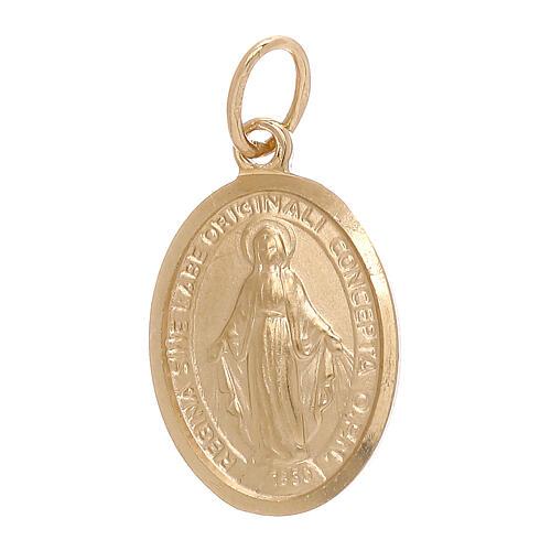 Pendentif Médaille Miraculeuse or jaune 18K 1,8 gr 1