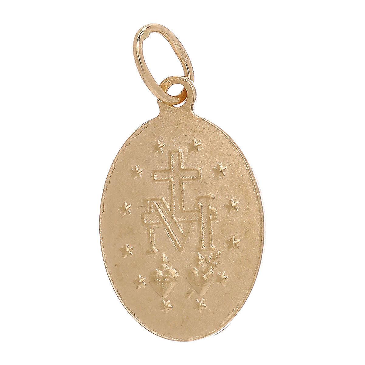 Pendente Medaglia Miracolosa oro giallo 18 carati 1,8 grammi 4