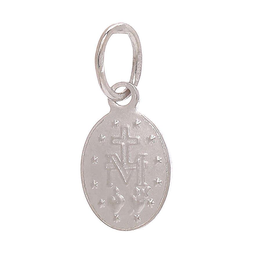 Medaglia Miracolosa pendente oro bianco 750/00 0,6 grammi 4