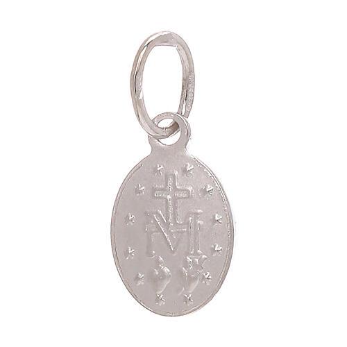 Medaglia Miracolosa pendente oro bianco 750/00 0,6 grammi 2