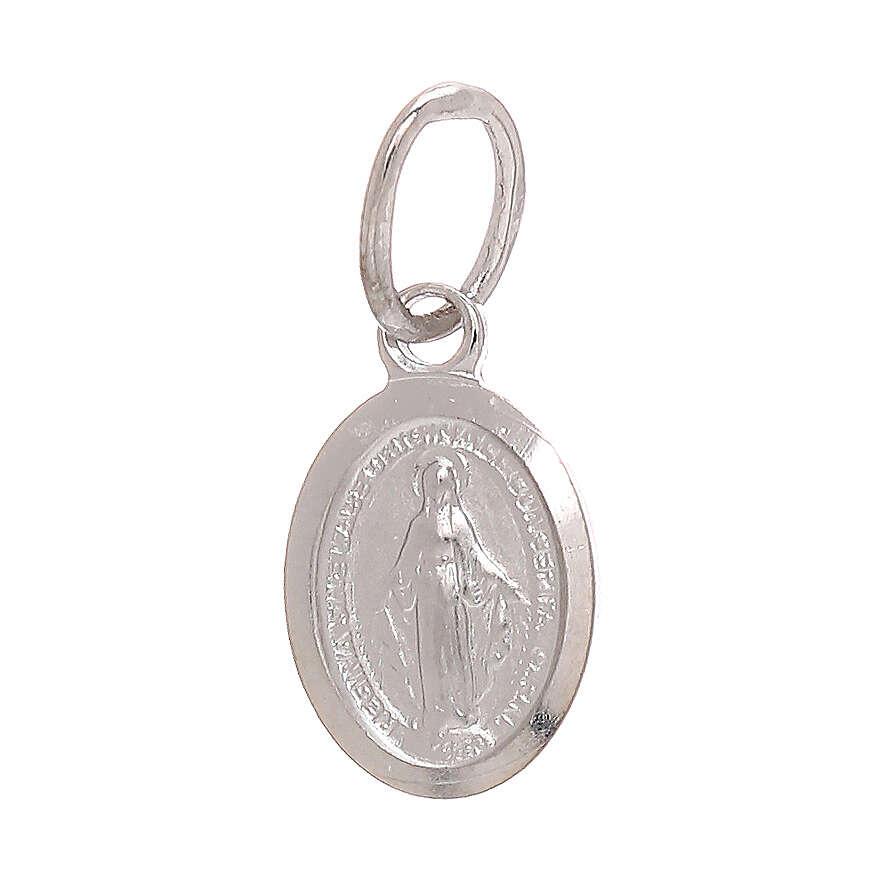 Miraculous Medal pendant 18-carat white gold 0.6 gr 4