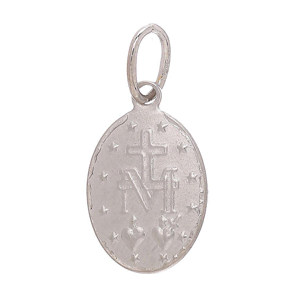 Miraculous Medal pendant 18-carat white gold 1.2 gr 4