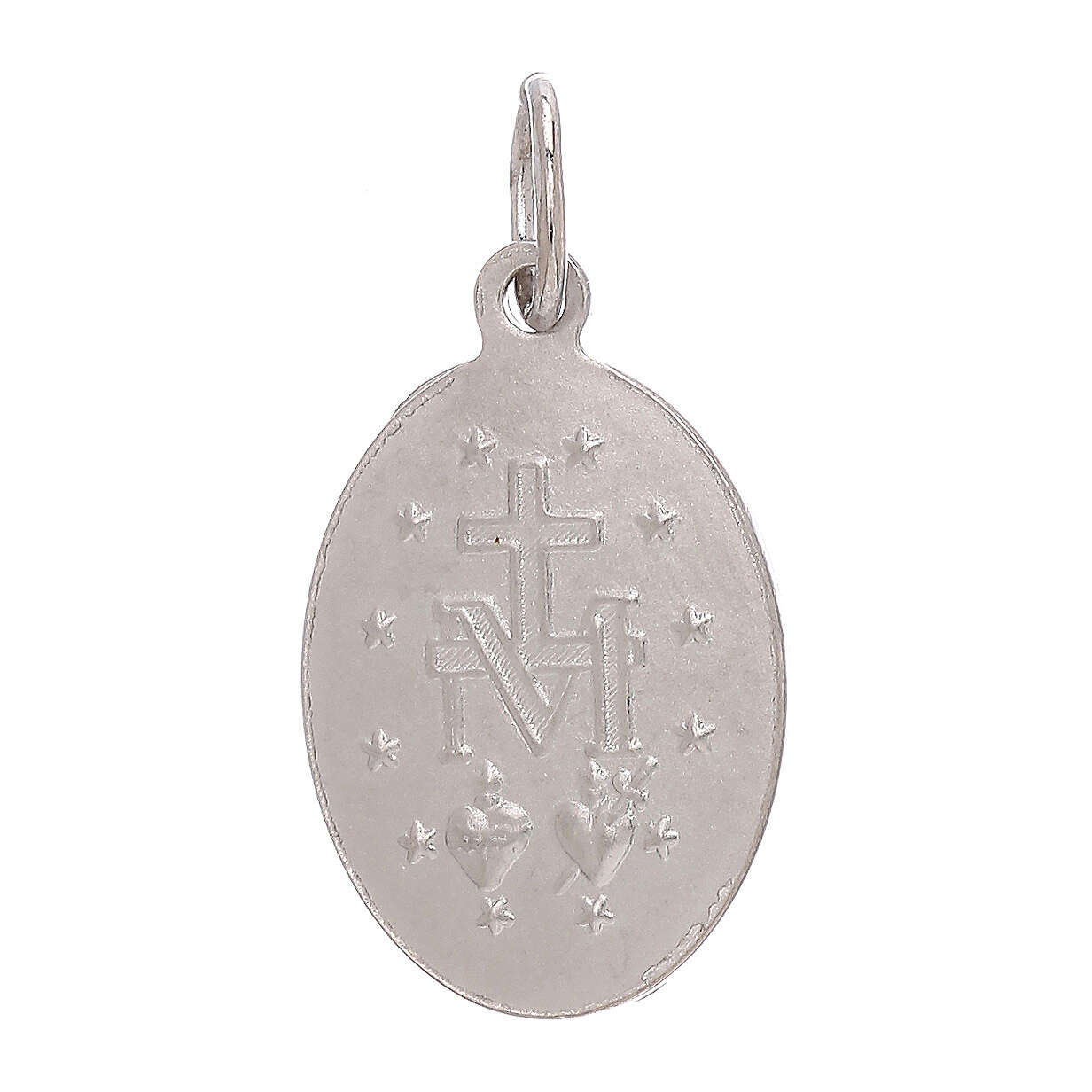 Colgante Medalla Milagrosa oro blanco 750/00 1,8 gramos 4