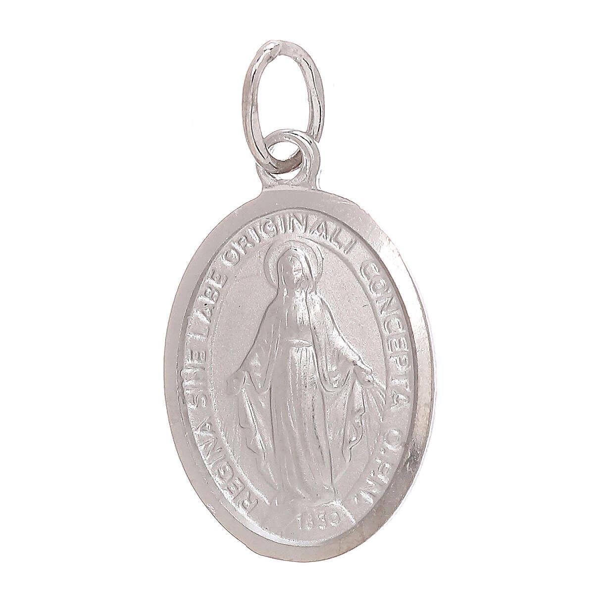 Ciondolo Medaglia Miracolosa oro bianco 750/00 1,8 grammi 4