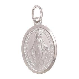 Ciondolo Medaglia Miracolosa oro bianco 750/00 1,8 grammi s1