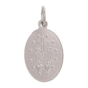 Ciondolo Medaglia Miracolosa oro bianco 750/00 1,8 grammi s2