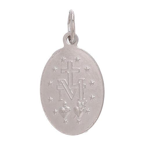 Ciondolo Medaglia Miracolosa oro bianco 750/00 1,8 grammi 2