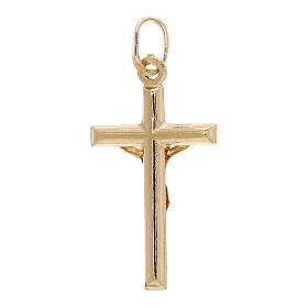 Crucifix pendant squared ends 18-carat yellow gold 1.2 gr s2