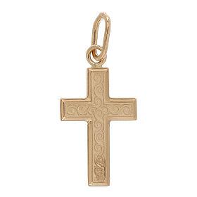 Pendentif croix or 750/00 arabesques 0,7 gr s2