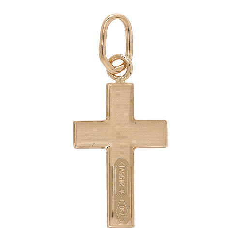 Cross pendant convex sheet of 18-carat yellow gold 0.7 gr 2