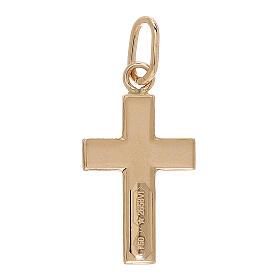 Pendente croce raggi satinati oro 18 kt 0,7 gr s2