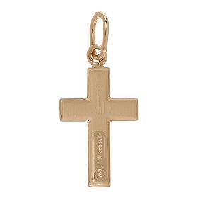 Pendente croce oro giallo bicolore 750/00 0,7 gr s2