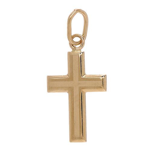 Pendente croce oro giallo bicolore 750/00 0,7 gr 1