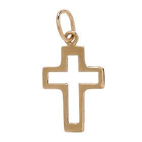Pendentif silhouette croix ajourée or jaune 18K 0,35 gr s1