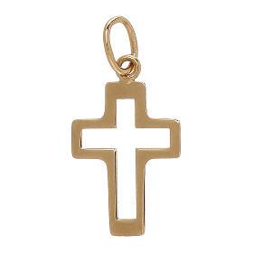 Pendente sagoma croce traforato oro giallo 18 kt 0,35 gr s2