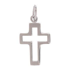 Pendente croce traforata oro bianco 750/00 0,35 gr s1