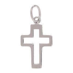 Pendente croce traforata oro bianco 750/00 0,35 gr s2