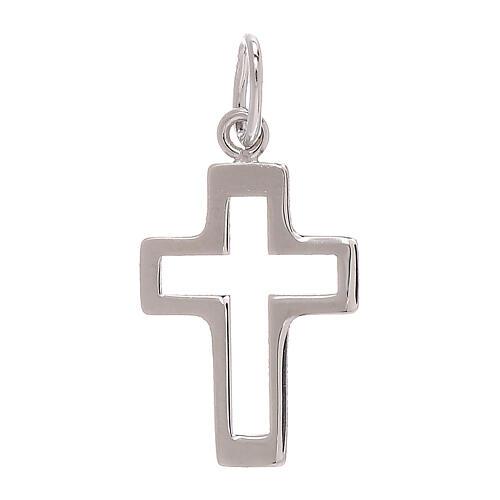 Pendente croce traforata oro bianco 750/00 0,35 gr 1