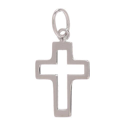 Pendente croce traforata oro bianco 750/00 0,35 gr 2