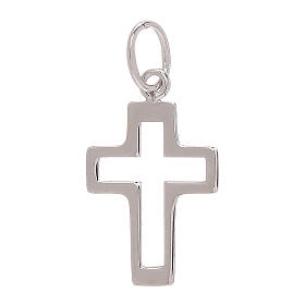 Perforated cross pendant 750/00 white gold 0.35 gr s2
