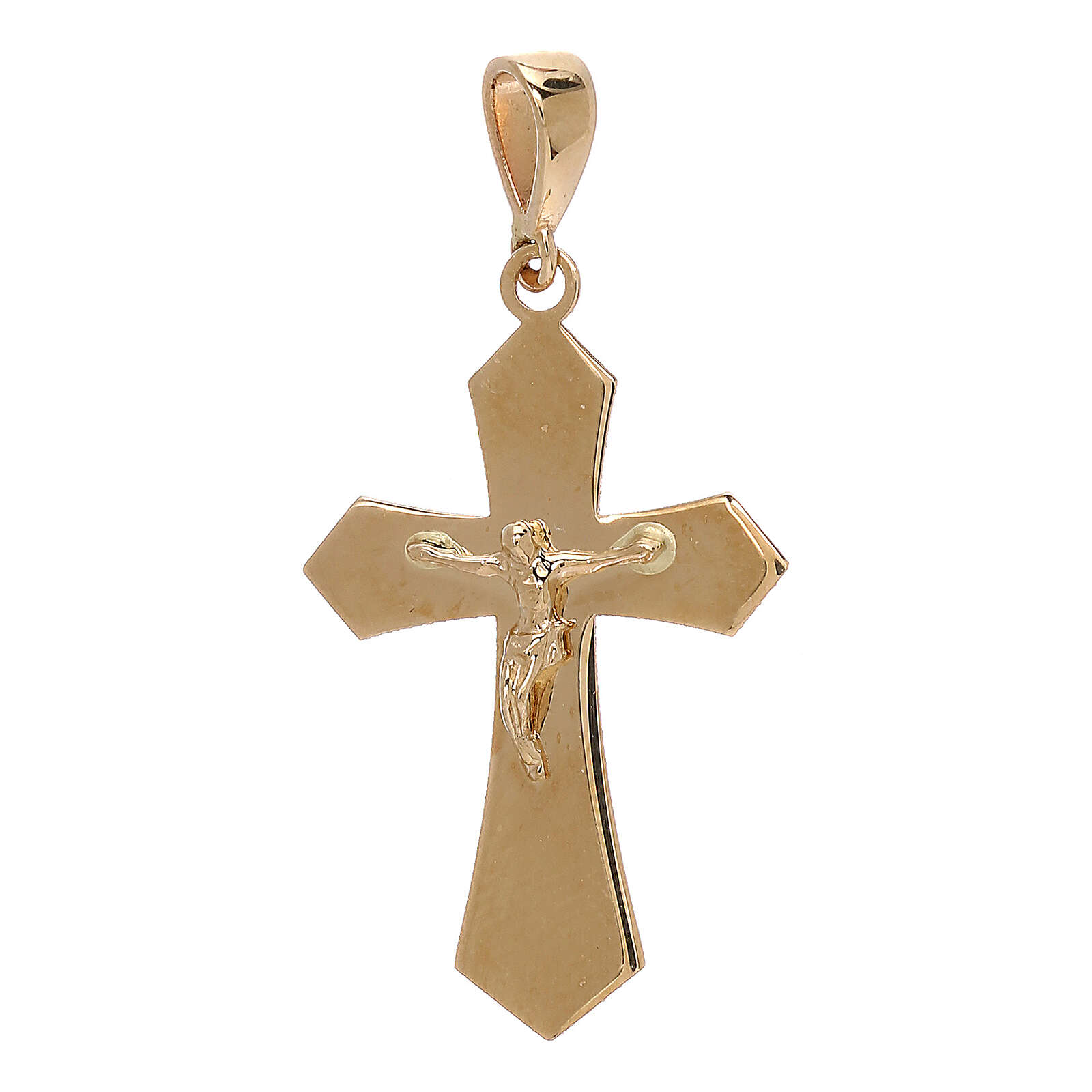 Cruz colgante oro amarillo 18 quilates Cristo 1,2 gr 4