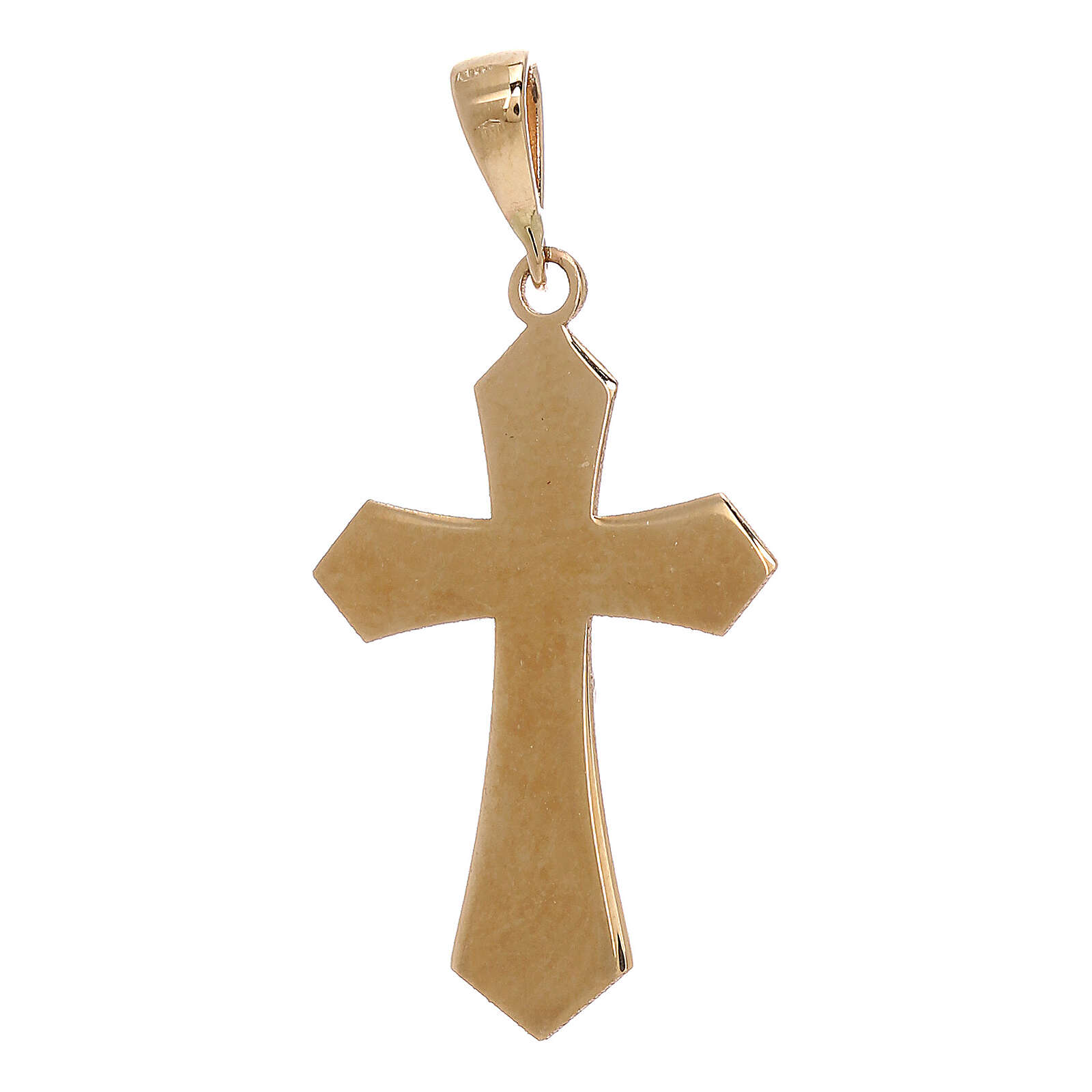 Croce pendente oro giallo 18 carati Cristo 1,2 gr 4