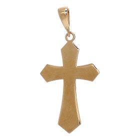 Croce pendente oro giallo 18 carati Cristo 1,2 gr s2