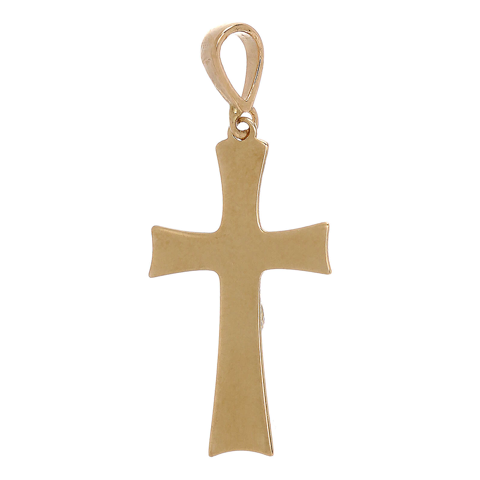 Cross pendant with Christ in 18 kt gold 0.85 gr 4